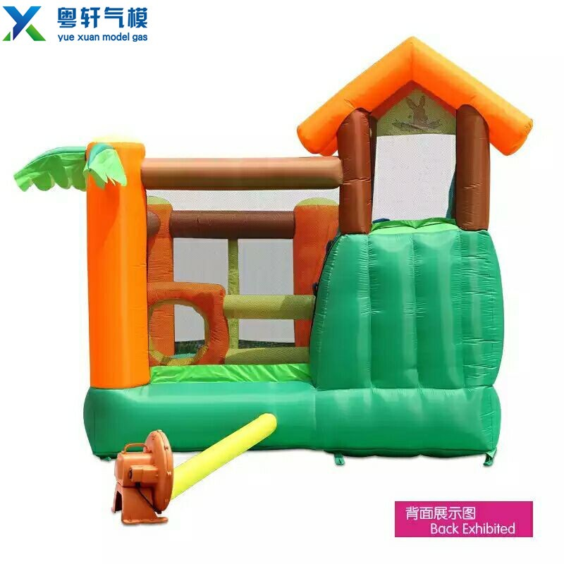 2017 High quality cheap inflatable bouncy castle /inflatable jumping castle for children with slide and pool
