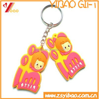 Personalized Soft rubber PVC Keychain/ Cartoon pvc keychain/ mobile chain