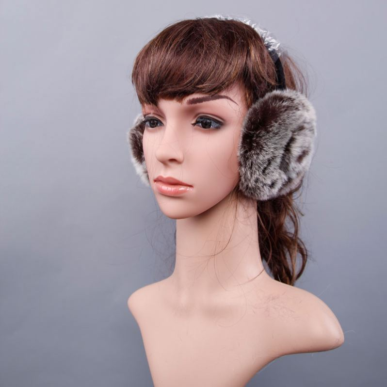 Fashion Style Genuine imitated fur knitted earmuffs