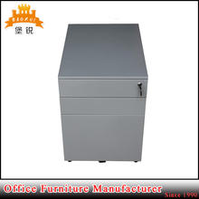 DAS-039 modern design movable three drawers office filing cabinet mobile metal storage unit
