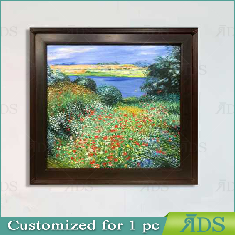 Framed Handmade Oil Painting <strong>Pictures</strong> of Flowers for Home Decoration