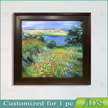 Framed Handmade Oil Painting Pictures of Flowers for Home Decoration