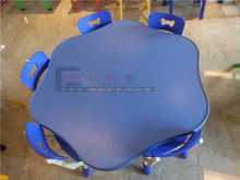 Manufacturing high quality children wood kindergarten furniture desk and chairs