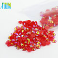 Manufacturer Supply Non Hot Fix Resin Flat Back Stone DIY Resin Rhinestone , D-A022-Jelly Siam AB