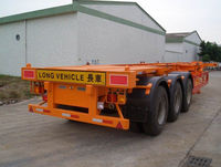 container skeleton transport vehicle: 3 axle high payload container semi trailer