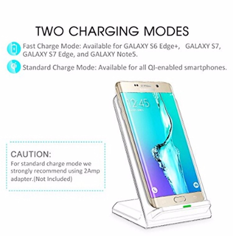 High Quality Fast Wireless Charger 10W QI Wireless Charging Stand