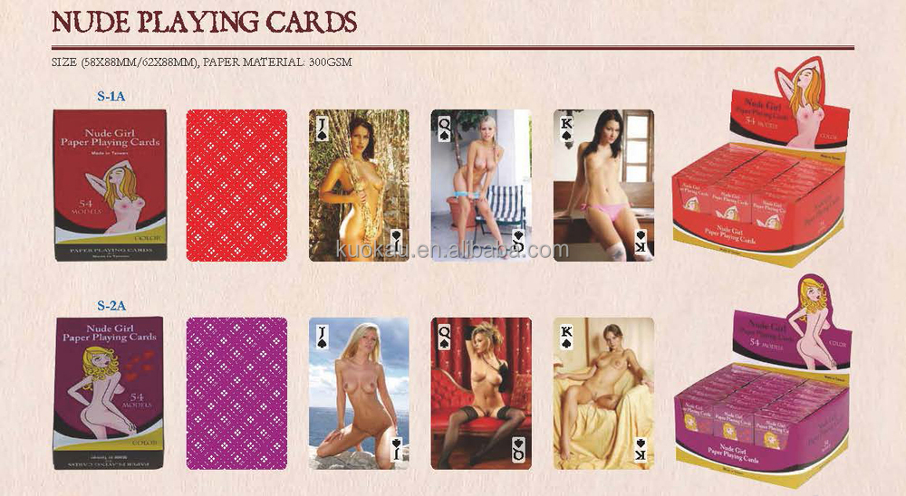 NUDE SEXY GIRL PLAYING CARDS