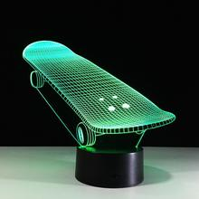 Extreme Sport 3D Skateboard Light,3D Night Lights In Different Shapes Designs Best Kids Christmas Gifts