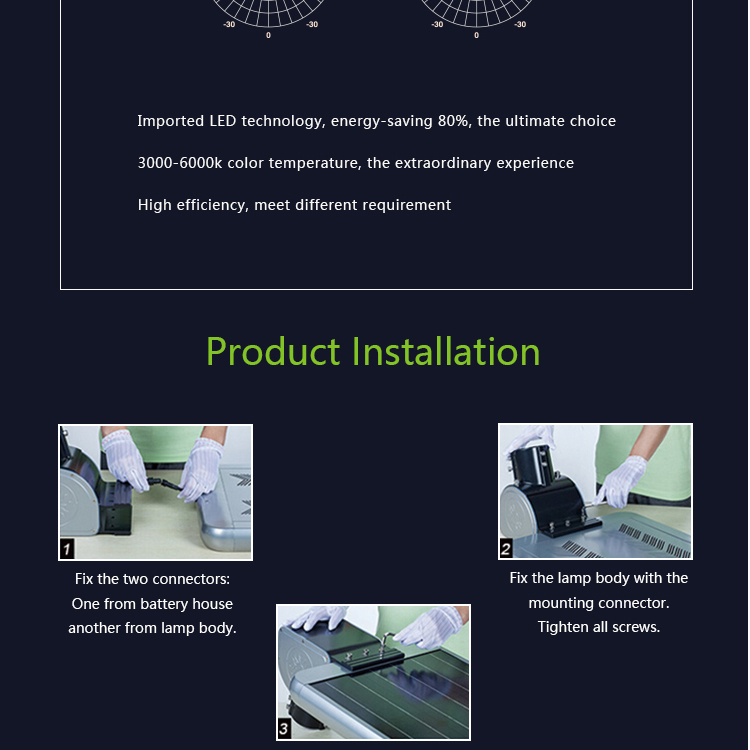 wholesale solar lights high lumen solar power outdoor all in one 30W led street light