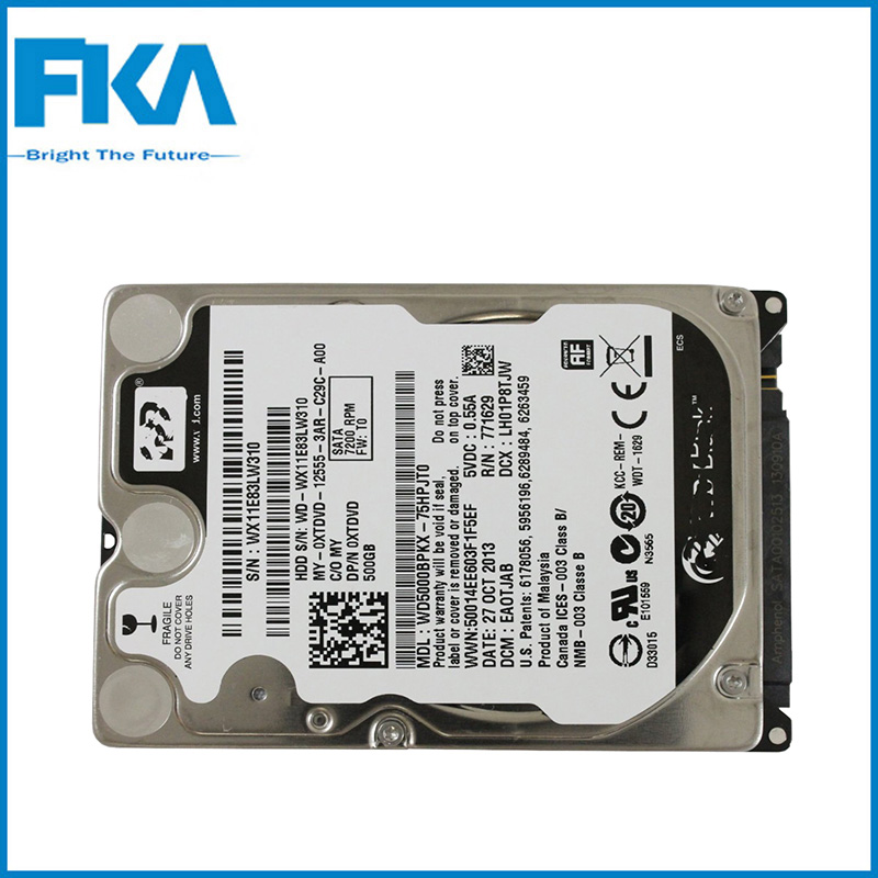 Hard disk drive 0XTDVD 2.5 inch 500GB HDD 7200Rpm SATA For Dell