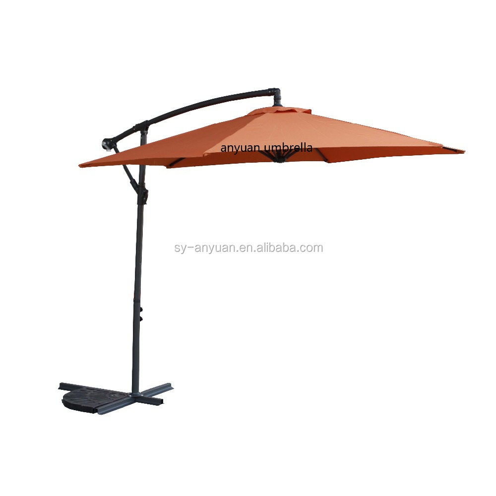 polyester outdoor aluminium side pole swiming pool hanging cantilever umbrella 10 feet umbrella