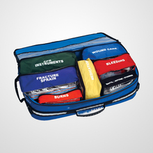 first aid kit bag with Supplies for offshore waters for up to 28 days for up to 14 people