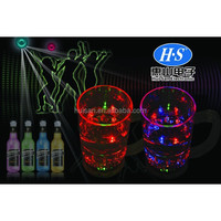 Plastic Glow LED Cup / Festival Gifts cocktail Drinking Cup/Colourful Flashing light wine container