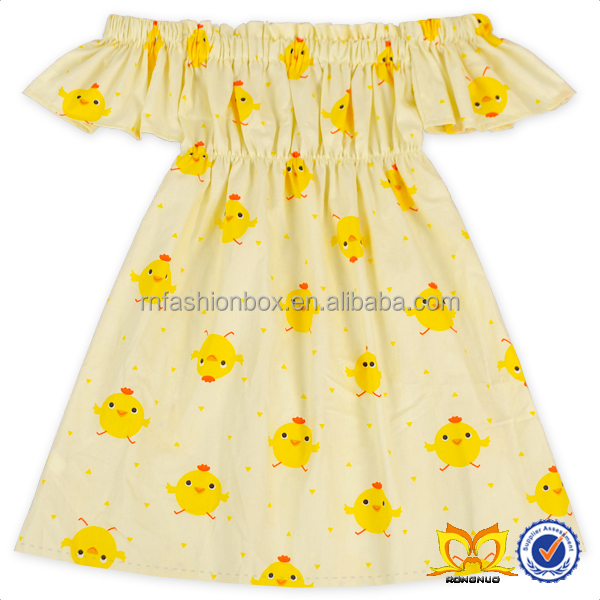 Cute Baby Chick One Piece 2 Year Old Girl Dress New Model Girl Dress