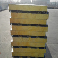 wall glass cotton sandwich panel installation