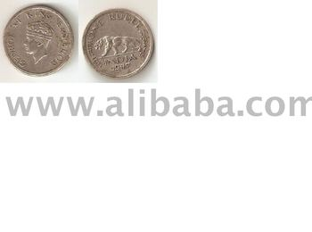 One Rupees Coin 1947 Of George VI King Emperor