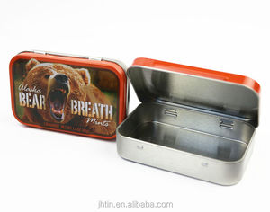 High quality lowest price rectangular card cigarette tin box with hinged lid