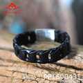 fashion customed woven bracelet leather mens hand accessories bracelets