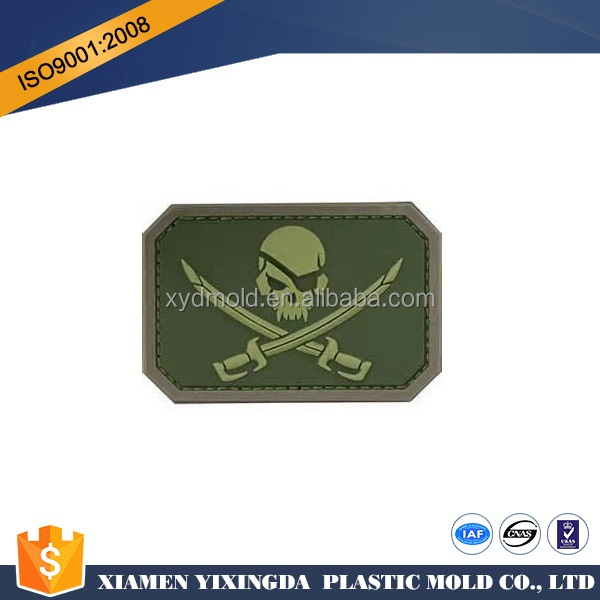 Custom PVC Tactical Military Morale PVC Rubber 3D Patches