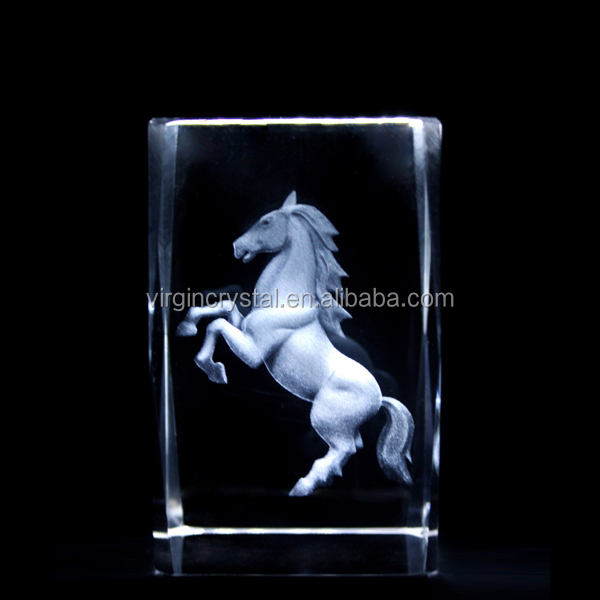 Wholesale customized blank 3d laser etched glass crystal cube block for gift item