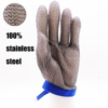 High stainless steel metal mesh cut resistant gloves/five finger protection cutting