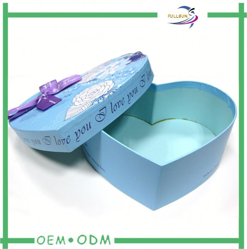exclusive fabric covered heart shaped gift boxes