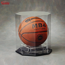 square clear acrylic basketball display box case