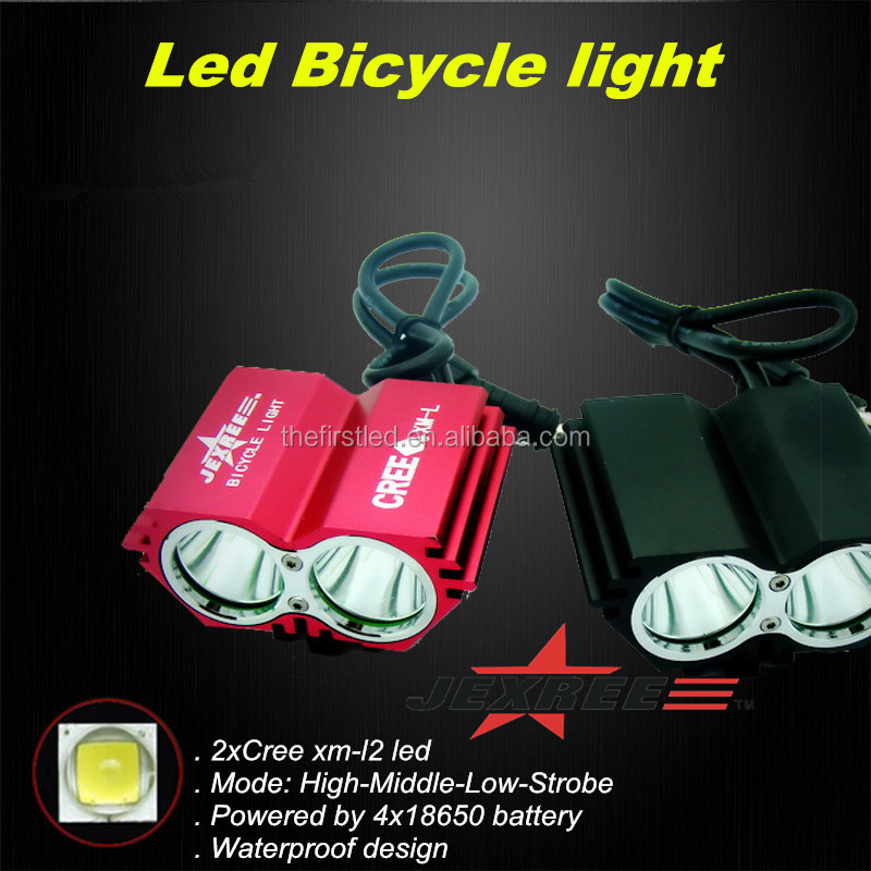 Jexree 1800LM Waterproof <strong>Design</strong> Led cree xm-l l2 bike light
