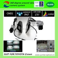 ISO 9001:2008/ROHS/CE certification HD 360 degree bird view camera system for Toyota Crown