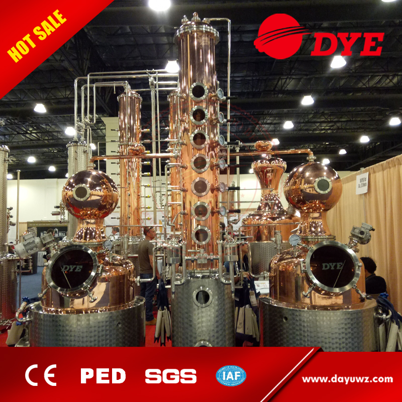 stainless steel pot still alcohol distillation column for sale