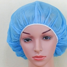 Disposable Pp Nonwoven Surgical Bouffant Head Cap Fabric Hair Net