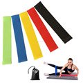 Wholesale latex 5 levels rubber Yoga loop resistance band, stretch fitness loop bands
