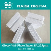 180gsm Self Adhesive Back Waterproof glossy RC photo paper for pigment