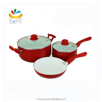 2017 Rose Aluminum Ceramic Cookware Set