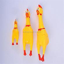 shrilling chicken dog toy