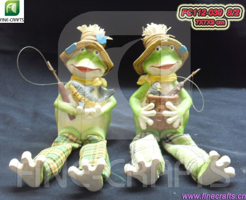 Polyresin fish frog figurine holiday gifts