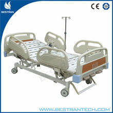 China BT-AM113 CE approved three function adjustable bed risers patient triple crank hospital bed