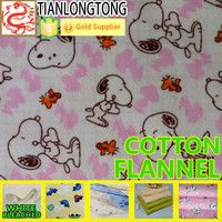 100% COTTON safe soft warm cloth for kids baby cotton flannel fabric China Supplier