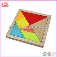 2015 new style wooden toy tangram ,hot sale wooden baby toys W02A003