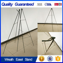 Wholesale metal display flower cheap wreath easel stand