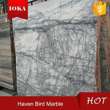 Heaven Bird white marble with black veins tile slabs