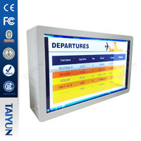 "32"" Screen Transparent Lcd Display/ Transparent Lcd Showcase Advertising With Different Size"
