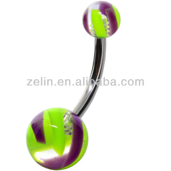 UV acrylic belly navel ring volleyball belly button rings