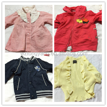 second hand clothes children spring wear warehouse used clothing
