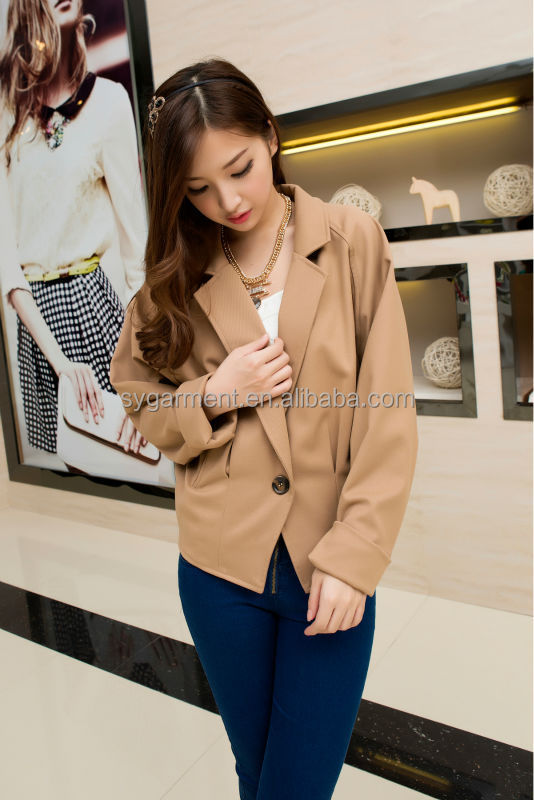 2014 Newest Fashion women short coat model, women trench coat buckles with nylon lace