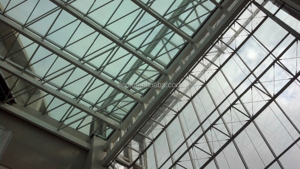 Economic High Quality Lobby Roof with Temper Glass Cover