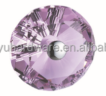 Diamond Shape Pink Crystal Cut Glass Door Handle and Knob