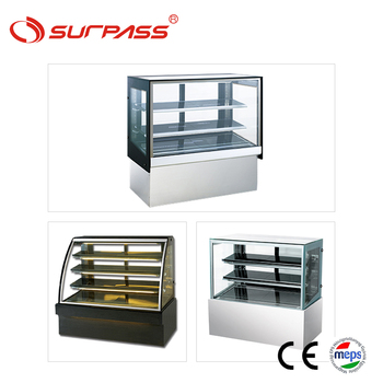 Cheap wholesale cake display fridge display for coffee shop counter top refrigerator