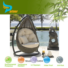 Cheapest Bird's Nest Weaving Outdoor And Indoor Garden Cane Swing Metal Oval 3D Model Hanging Wicker Egg Chair With Stand