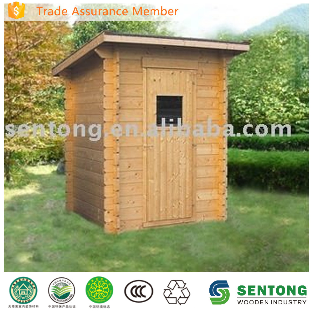 Convenient Outdoor wood Toilet